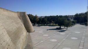 Pohľad z hradieb pevnosti Ark