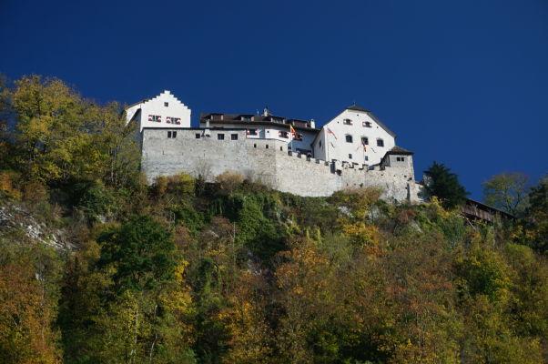 Hrad Vaduz - sídlo lichtenštajnskej kniežacej rodiny