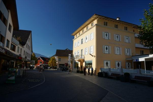 Ulica Städtle v centre Vaduzu