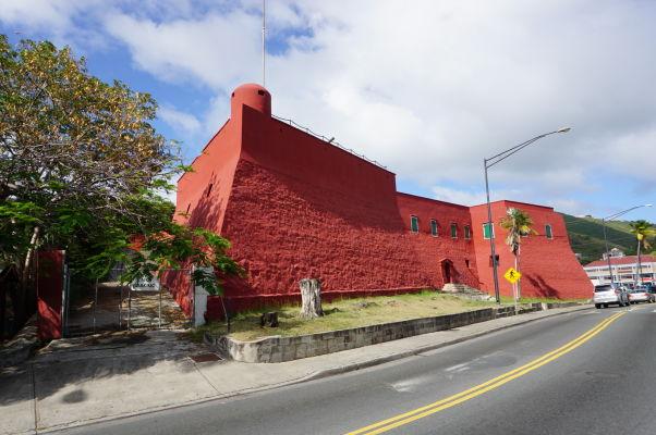 Pevnosť Fort Christian v Charlotte Amalie na ostrove Svätý Tomáš