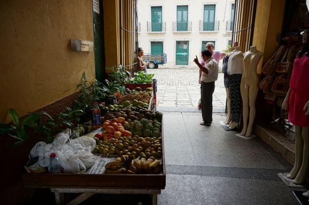 Ovocie na historickej mestskej tržnici v São Luís