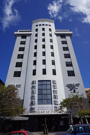 Banco Popular de Puerto Rico (Ľudová banka Portorika), postavená v štýle Art Deco