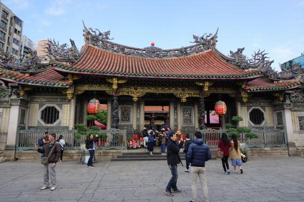Vnútorná vstupná brána do chrámu Longšan v Tchaj-peji
