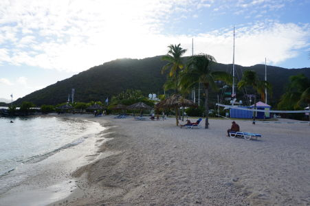 Pláž Nanny Cay na Tortole