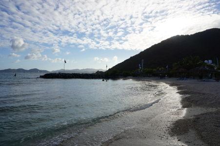 Západ Slnka nad Nanny Cay