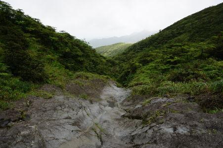 Údolie pod La Soufrière