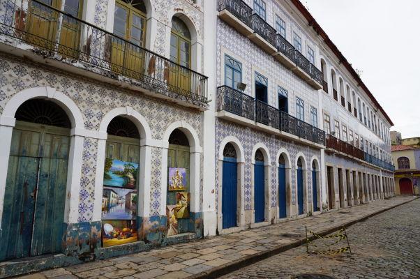Ulica Rua Portugal v São Luís - samotné jadro historického centra