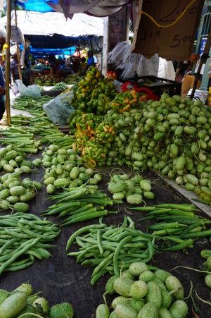 Zelenina na tržnici v São José