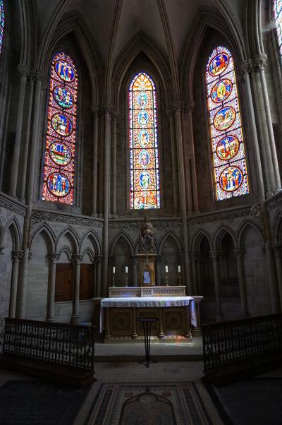 Kaplnka v abside Katedrály Matky Božej v Bayeux