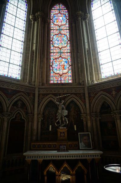 Kaplnka sv. Michala v abside Katedrály Matky Božej v Bayeux