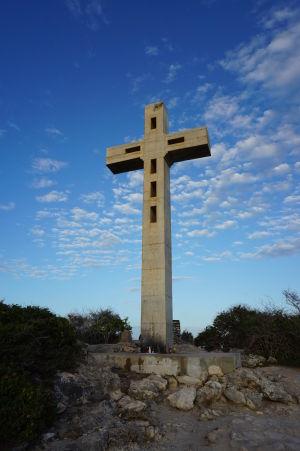 Kríž označujúci navýchodnejší bod Guadeloupe