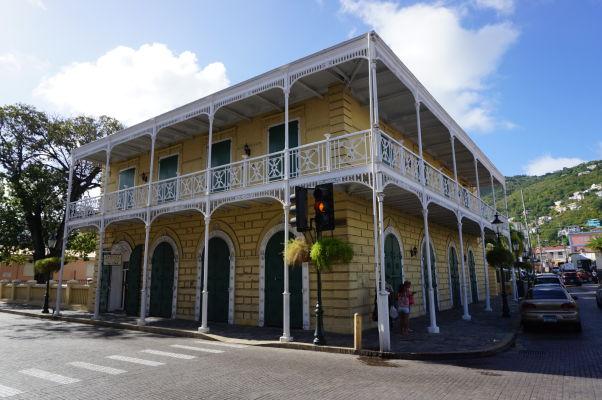 Budova banky ostrova Svätý Tomáš v Charlotte Amalie