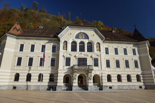 Sídlo lichtenštajnskej vlády vo Vaduze