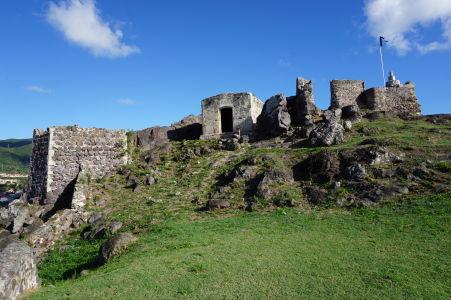 Pevnosť Fort St. Louis v Marigote - dnes už len ako ruina