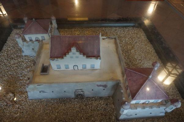 Model bývalej holandskej pevnosti Fort Provintia vo vnútri veže Chihkan v Tchaj-nane