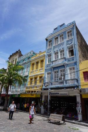 Farebné budovy na Rua do Livramento