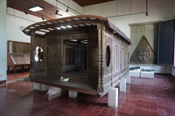 Lodná kabína z 19. storočia - Národné múzeum v Phnom Penhu