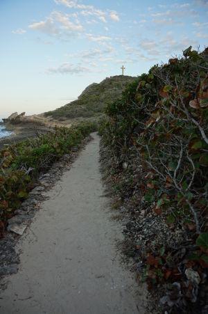 Cestička ku krížu označujúcemu navýchodnejší bod Guadeloupe
