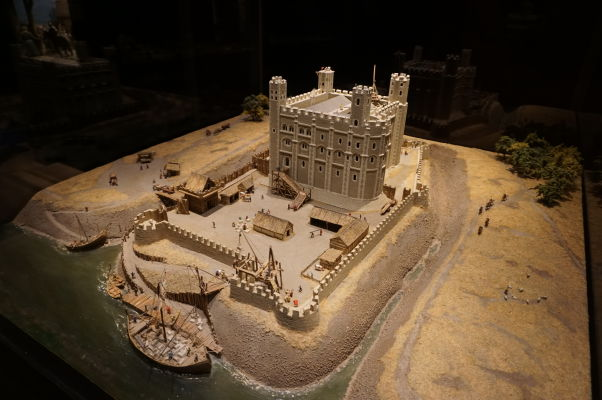 Model Tower v Londýne v Múzeu Tapisérie z Bayeux