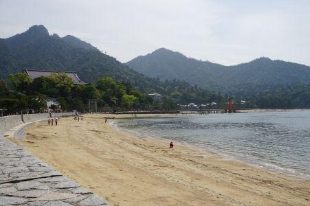 Pláž v Icukušime