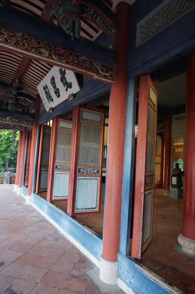 Typické vstupné dvere veže Chihkan v Tchaj-nane, bývalej holandskej pevnosti Fort Provintia