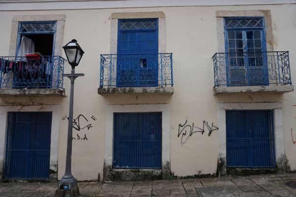 Koloniálne budovy v historickom centre São Luís sú veľmi pestrofarebné