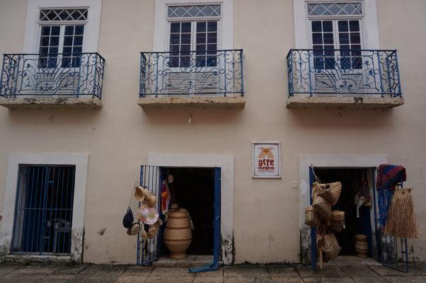 Obchod s remeselníckymi výrobkami v historickom centre São Luís