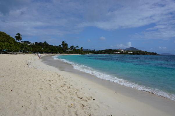 Pláž Sapphire Beach na ostrove Svätý Tomáš