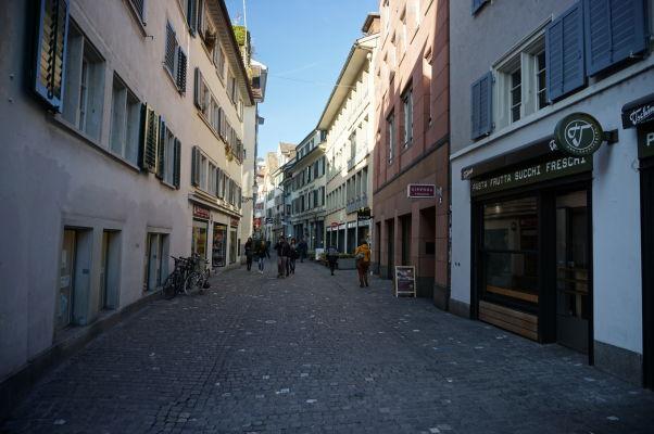 V uličkách Zürichu