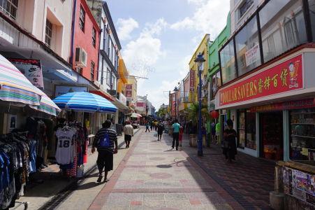 Hlavná pešia zóna v Bridgetowne