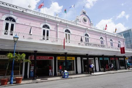 Obchodné centrum Colonnade v centre Bridgetownu