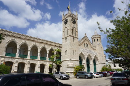 Historická budova parlamentu Barbadosu z 19. storočia