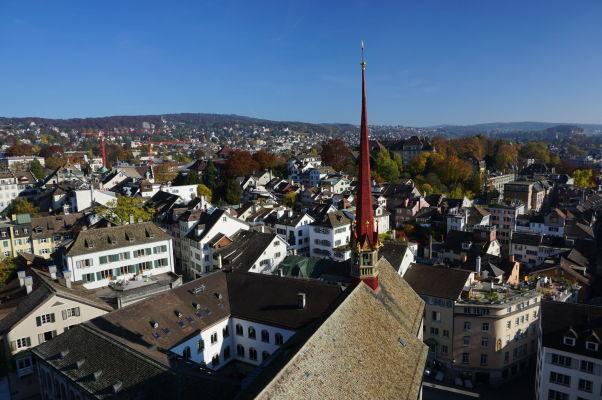 Výhľad na Zürich z Grossmünsteru