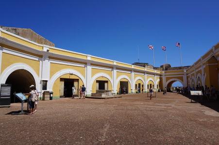 Hlavné nádvorie pevnosti El Morro