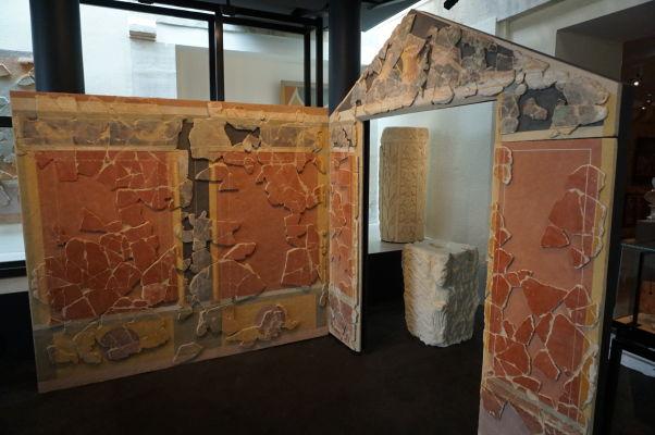 Pozostatky rímskej vily v antickej sekcii - Múzeum umenia a histórie baróna Gérarda (MAHB) v Bayeux