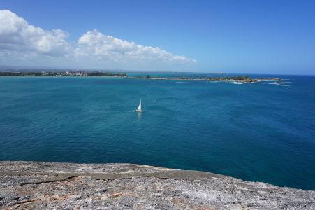 Výhľad na záliv v San Juane z pevnosti El Morro