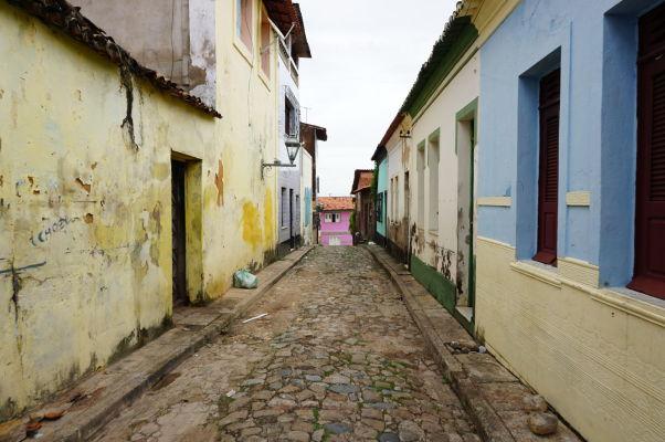 Zanedbané budovy v historickom centre São Luís