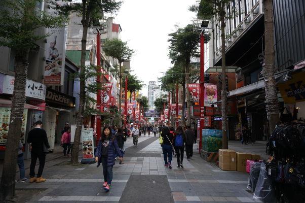 Nákupná ulica Dihua v Tchaj-peji