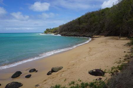 Pláž v zátoke Grande Anse