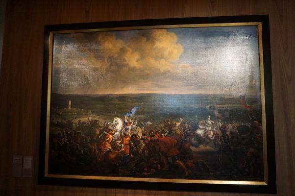 Bitka pri Formigny v roku 1450 neďaleko Bayeux, ktorá ukončila Storočnú vojnu - Múzeum umenia a histórie baróna Gérarda