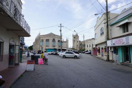 Budova parlamentu v Bridgetowne na Barbadose
