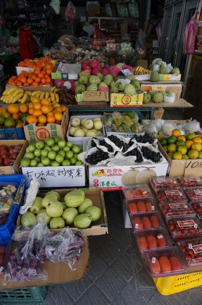 Na ulici Dihua v Tchaj-peji nakúpite výborné čerstvé ovocie