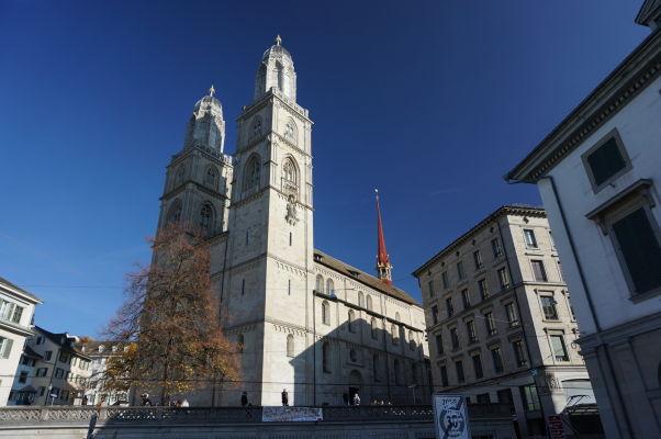 Grossmünster - Protestantská katedrála v Zürichu