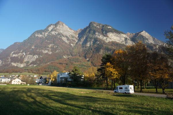 Pohľad na kopec Mittagspitz z Balzers