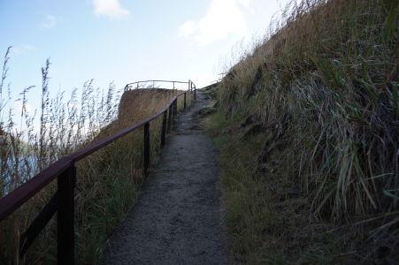 Cestička na kopec k pevnosti Fort Rodney