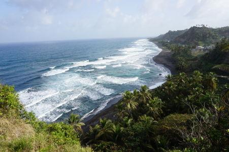 Východné pobrežie ostrova Svätý Vincent