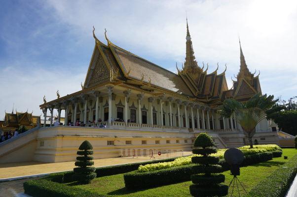 Trónna sieň Kráľovského paláca v Phnom Penhu