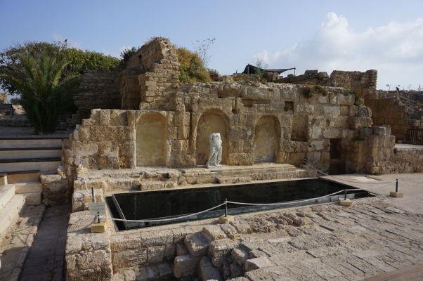 Pozostatky stredovekého mesta v Caesarei