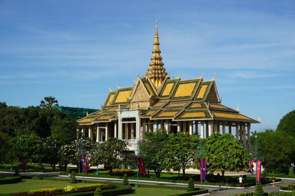 Pavilón mesačného svitu (Moonlight Pavilion) v Kráľovskom paláci v Phnom Penhu