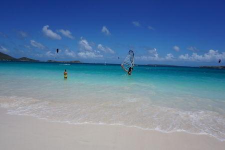 Pláž Orient Beach - na svoje si tu prídu napríklad aj windsurferi